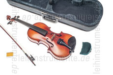 Large view 3/4 Left-Handed Children's Violinset - GASPARINI MODEL PRIMO - all solid - shoulder rest